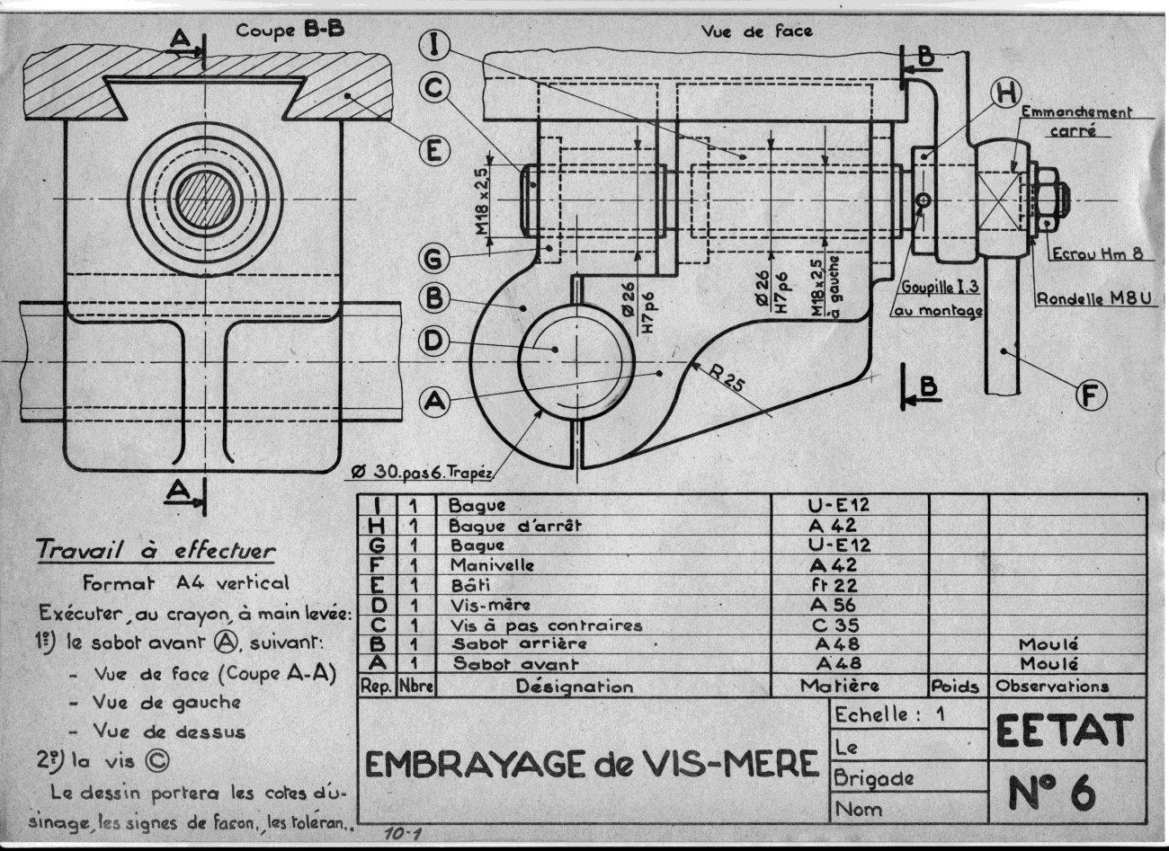 Eetat issoire le plaisir des salles de cours - Exercice dessin industriel coupe et section ...